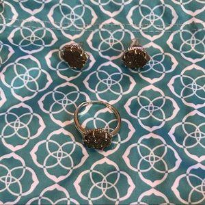 Kendra Scott Drusy Kylie ring w/ matching earrings